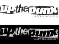 Up The Punx logos rough