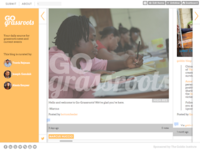 Go-Grassroots Tumblr design