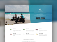 Landing page for GoBaliHire