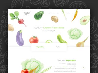 Veggies Vegetable Website Concept