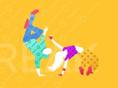 Break Dance Illustration