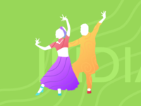 Indian Dance Silhouette