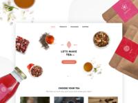 Let's Make Tea Landing Page Concept