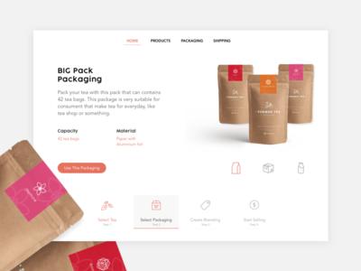Big Packaging Website Page
