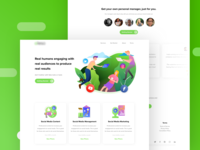 Social Media Manager Landing Page