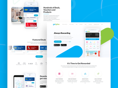 Getplus Landing Page Redesign Full Site color modern landing web mobile illustration interactive clean ui ux website simple design iphone app flat