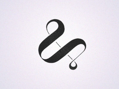 Amperbored v.2 illustrator illustration noise texture typography ampersand photoshop type lettering