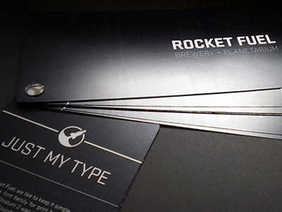 Rocket Fuel brand book branding rocket fuel brewery