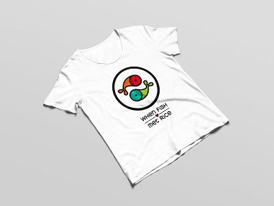 WFMR logo yinyang food sushi graphics design illustration vector tshirt logo