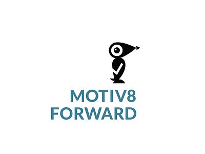 Motiv8 Forward bird vector illustration logo design graphic logo app ui