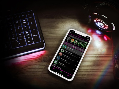 MashSpace mobile branding message messaging app app gaming game icons vector user interface ui