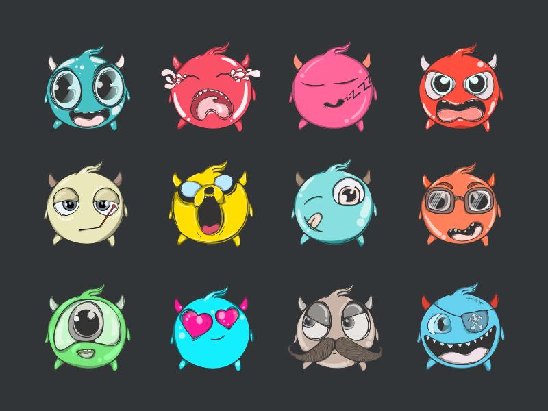 Vector Cool Emoji Set wolverine smiley jake illustration f1digitals emoticons emojis dribbble cool artwork adventure
