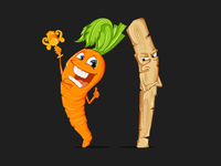 Carrot vs Stick Illustration
