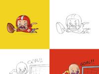 Sport kids stickers   dribbble
