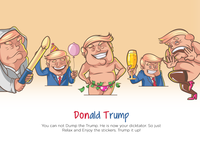 Donald Trump Stickers Design | F1 Digitals