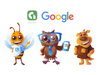"Mascot Designs For Google ""AppDev"" Team 