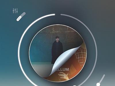 Peel The Circle app music app music iphone simple 3d player ui bar ios7 progress bar ios