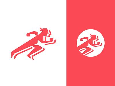 Running Hermes running run vector illustration icon simple negative space neg hermes mythology logo