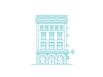 Building Line Illustration