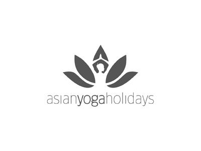 Asian Yoga Holidays yoga asia holiday lotus logo logolounge plant flower negative space india nature brand identity natural
