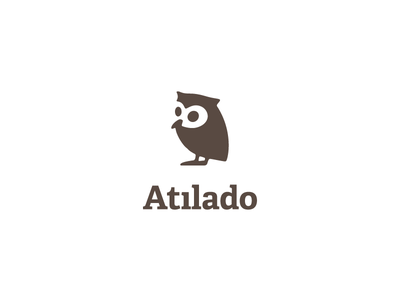 Atilado Books symbol logo bird animal publisher book owl