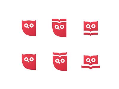 Search + Owl Exploration book owl bird animal search branding symbol logo