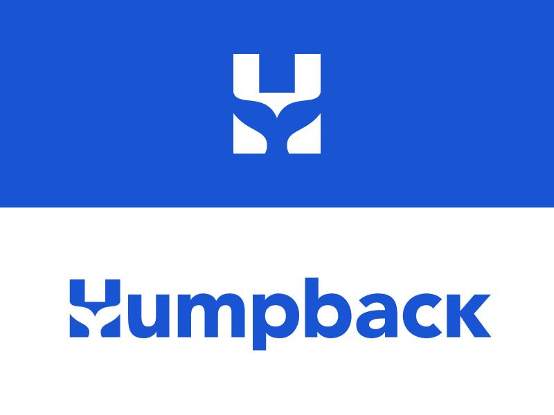 Humpback mark logotype negative space icon logo whale humpback