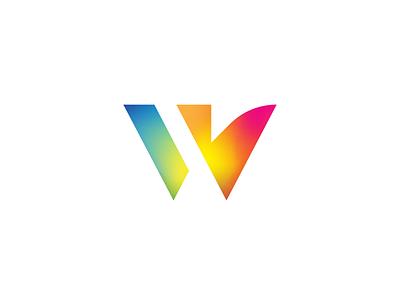 Unused Proposal - W speech bubble eagle initial logo gradients w
