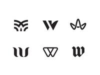 Assorted W's logo design w identity logo monogram