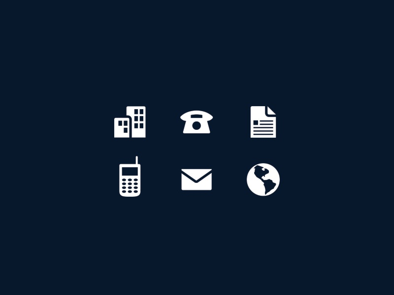 Business Card Icons by Jeriah Lau - Dribbble