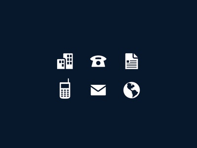 Business card icons by jeriah lau dribbble business card icons reheart Gallery