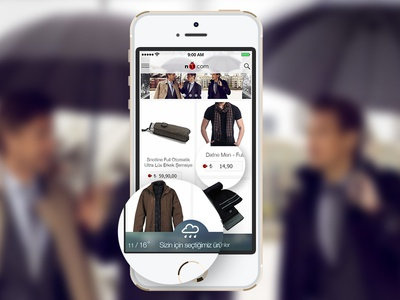 Fashion app demo design