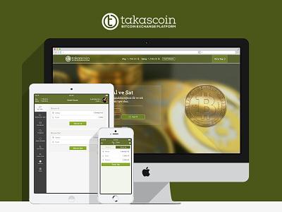 Takascoin Bitcoin Exchange Platform bitcoin exchance bitcoin ui mobile devices iphone ipad website user interface design mobven