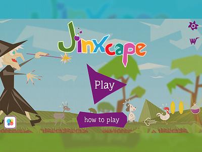 Jinxcape menu screen jinxcape mobile game ui mobile game user interface intendo bug mobile game menu