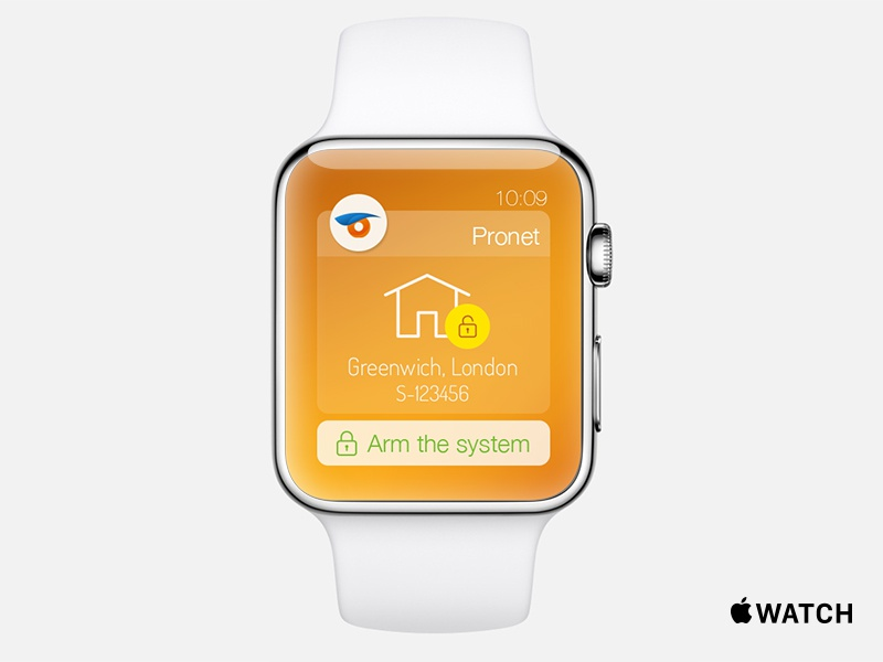 Apple Watch Demo apple watch demo pronet ui inspired user interface actionable notification