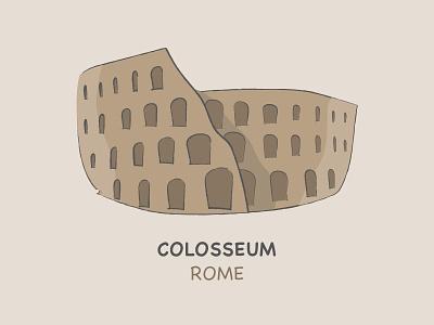 Colosseum italy flavian amphitheatre sketchy landmark rome colosseum