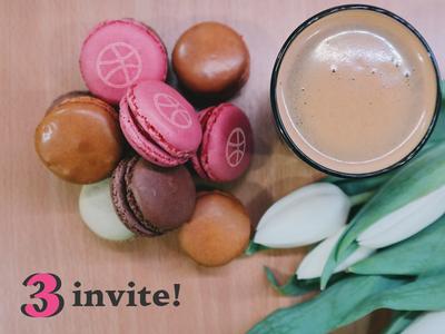 3 delicious Dribbble invitations! delicious invite dribbble invite