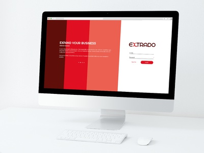 EXTRADO Web App, coming soon... ui design ui login screen user interface design web application web app web ui