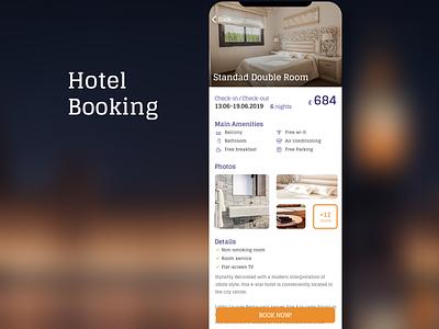 Hotel Booking Concept booking app hotel booking ui design ios11 gui design app mobile user interface design user interface mobile ui