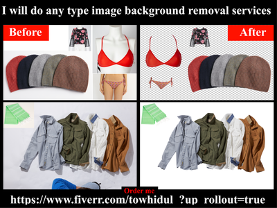 I will do background removal and photoshop editing services background removal others e-comerce retouching shadow masking photoediting transpernt clipping path service background remove