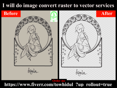 I will do image convert raster to vector services low cost vector tracing format