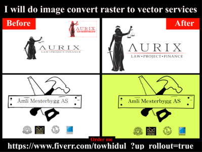 I will do image convert raster to vector services low cost transpernt design logo vector illustration convert format raster to vecto vector tracing vector