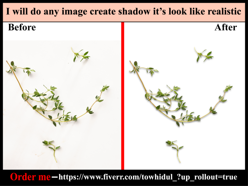 I will do shadow effect creation services quickly & low cost color change masking e-comerce clipping path service photoediting transpernt shadow type