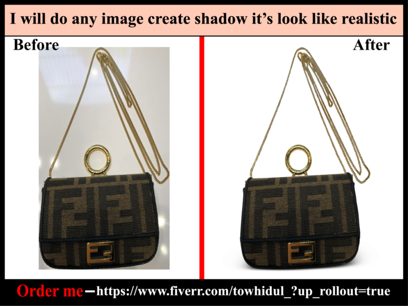 I will do shadow effect creation services quickly & low cost others retouching color correctio e-comerce background removal masking clipping path service photoediting transpernt shadow