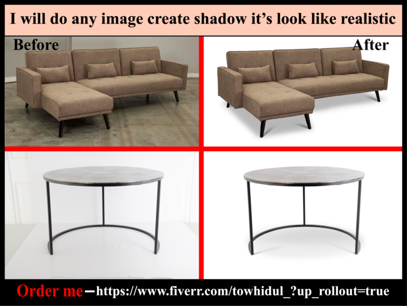 I will do shadow effect creation services quickly & low cost e-comerce masking color correctio background removal color change photoediting retouching background remove clipping path service transpernt