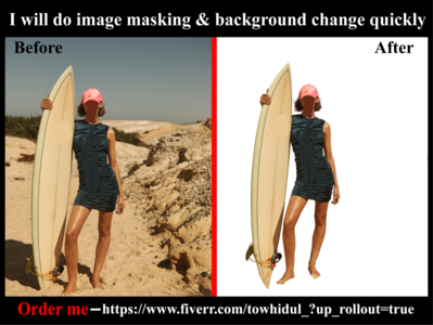 I will do Image/photo masking & background removal services changing others clipping path service shadow background removal photoediting e-comerce masking transpernt white background