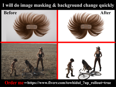 I will do Image/photo masking & background removal services changing e-comerce background removal clipping path service shadow retouching background remove photoediting transpernt masking white background