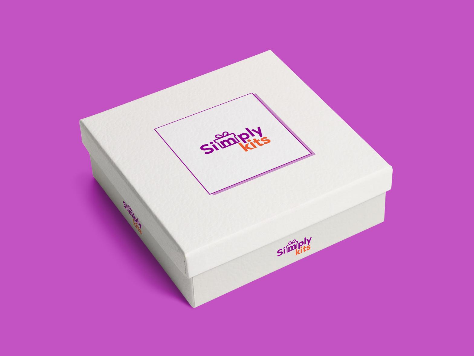 SimplyKits cpurple logolovers lovekits kits lovedesiging graphicdesign ui boxbranidng branding gift logodesigns simplykits dribbble logodesign