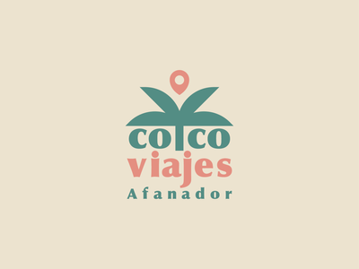 Coco Viajes Afanador palma palm design viajes tropical agency travel logo branding brand logo mark
