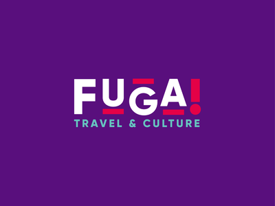 Fuga! Travel & Culture agenciadeviajes viajes travel agency marca logo mark logo design branding brand